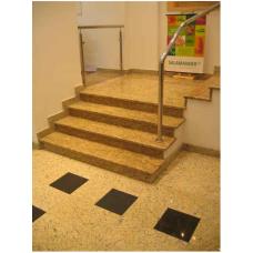 Лестница из гранита Тибериус из Саудовской Аравии золотисто-желтого цвета