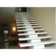 Мраморная лестница из материала Агора беж