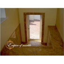Мраморная лестница из мрамора Крема валенсия