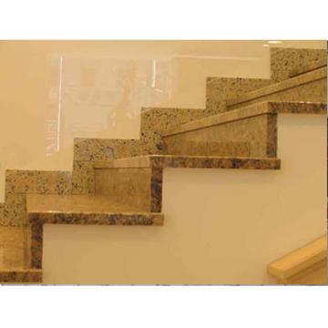 Гранитная лестница из зарубежного гранита «Ориентал елоу» (США)