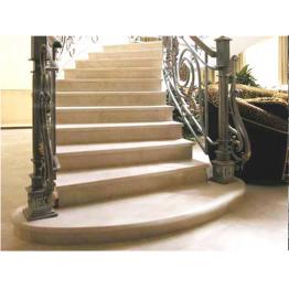 Лестница-79 Мраморная лестница из мрамора «Галала беж»
