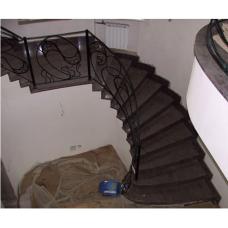 Лестница-71 Гранитная радиусная лестница из гранита «Визаг блю