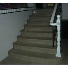 Лестница-95 Мраморная лестница из мрамора « Грей хурикане»