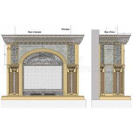 Декоративный каминный портал