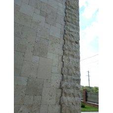 Использованиe травeртина для фасада дома