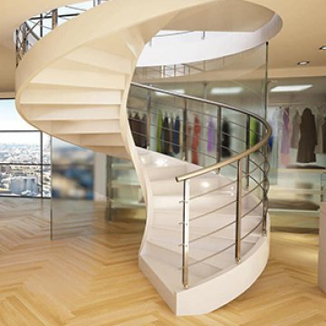 Гладкоподшитые лестницы