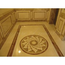 Лифтовая площадка из мрамора