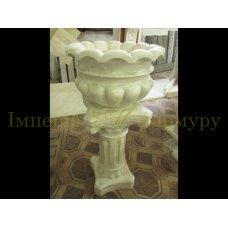 Классическая цветочная ваза из нежно бежевого мрамора Крема нова