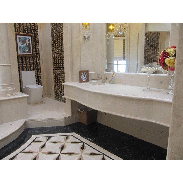 Столешница из мрамора для ванной комнаты