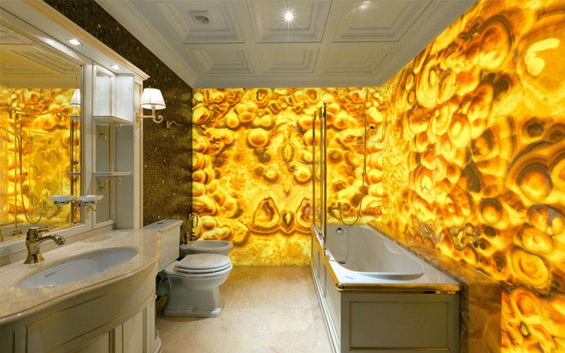 Панно из оникса для ванной комнаты